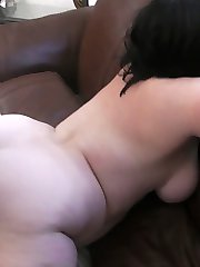 Large black cock ends up in all the holes of a slutty young brunette plumper