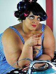 Xxx Plus-size Milf Farrah Foxx as fat vintage sailor