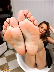 CZECH FEET - Foot fetish wosrhip dirty smelly feet sniffing nylons shoes