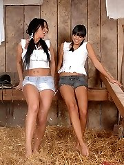 Kerry Louise & Sasha in a barn