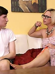 Archie Gets Milked By Step Mother Brianna at Over40handjobs