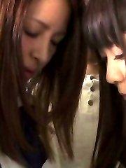 Nana Ninomiya Asian and babe have pussies PublicSexJapan.com