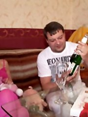 4 vids with teeny in pink nylons drinking wine and jism and getting banged by her old teacher