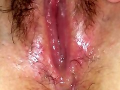 Wet pussy juices solo