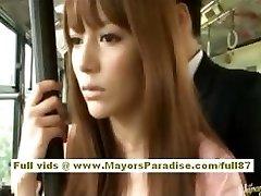Miho Maeshima Ķīniešu meitene izpaužas cum slodze uz viņas brilles