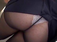 Wild Japanese whore Yayoi Yanagida in Fabulous Ample Tits, Office JAV clip