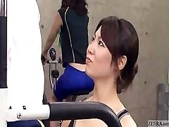 Japanese trainer gets bulge at the gym