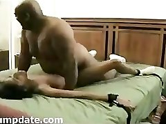 MASSIVE fat black guy fuck skinny black girl.