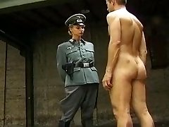 Nazi Squashes the Confession out with Her Fuckbox and Ass