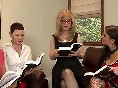 Great Lesbian Orgy By Horny Matures