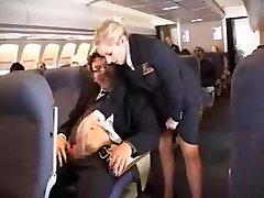 amerikansk flygvärdinna avrunkning del 1