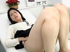 Japanese lesbo erotic spitting massage clinic Subtitled