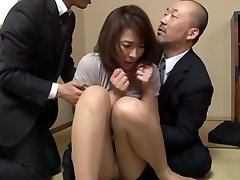 Hisae Yabe hot mature playgirl in male+male+female group action