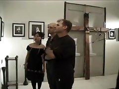 Freaky Goth Asian Girl Watches a Hardcore Bukkake Video