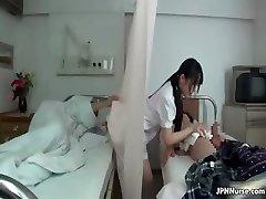 Japanese nurse enjoys inhaling two part3