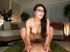 What's her name? Asian secretary rides and takes internal ejaculation