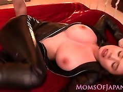 Throated asian milf cooter pummeled