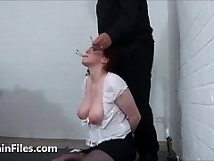 Face disciplined mature ### Chinas dental gagged masochist torments and humiliating gaping pussy pain of old submissi
