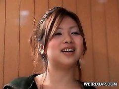 Asian teen hotties flashing sexy gams in mini skirts outdoor