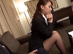 Fabulous Japanese girl Yui Oba in Ultra-kinky fingering, tights JAV video
