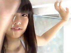 Schönheit japan girl, die sich aus dem college