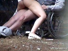 Wild Chinese nurse sucks cock in front of a voyeur