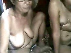 פיליפינית סבתא ולא אותה GRANdaughter מראה על פקה