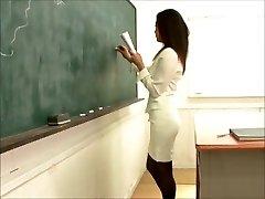 סקסית יפנית, מורה מזדיינת תלמיד