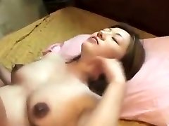 Oriental preggo creampied after banging