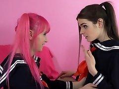 Shemale Schoolgirl Learns to SMASH!