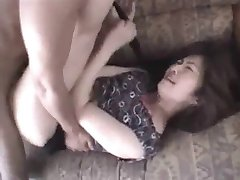 Japanese Wife lifts her short Skirt