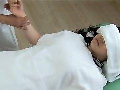 Gorgeous Jap gets screwed in wild spy cam massage clip