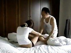 Ilegal Taiwán pareja haciendo el privado sextapes