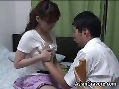 Sexy asian mit großen Titten zu Hause Lehrer part1
