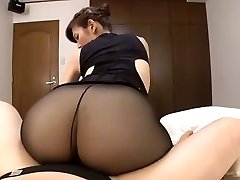 Japanische reife schwarze Strümpfe Sex