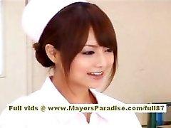 Akiho Yoshizawa Stellar Asian nurse enjoys teasing the doctor