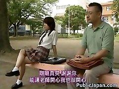Japanese model has scorching public sex part2