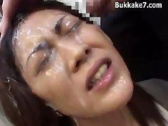 Ázsiai Titkár Bondage Bukkake
