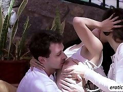 Asian Marica Hase in a threesome round
