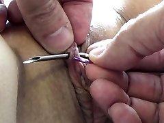 Extrém Tű Kínzás BDSM, Electrosex Körmök, Tű