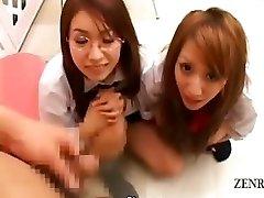 Feliratos CFNM POV Japán iskoláslányok pénisz szűrés