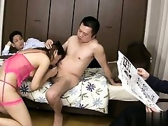 Busty amateur suck off master