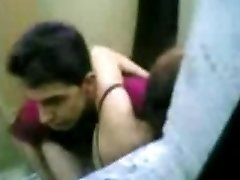 indonesian Maid Fuck With Pakistani Stud in Hong Kong Public Restroom