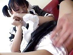 Yuki Hoshino, Asian maid, enjoys intercourse with the master