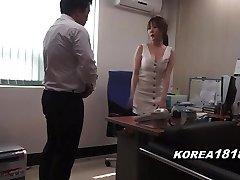 Korean porn RED-HOT Korean Boss Lady