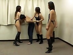 Hot chinese girls strike up weak guy