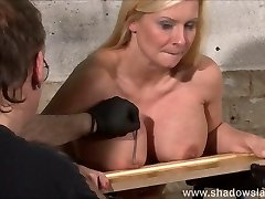 Tit romping kink of big-titted Melanie Moon in pussy pain