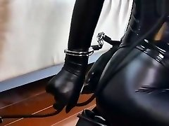 Bondage leather Servant girl