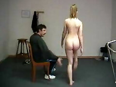 Humiliating naked exercises for teacher spanking disgrace