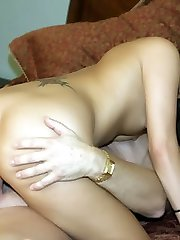 Horny amateur Autummn Skyes expertly sucks a wood and got her shaved cooter plowed in this porno movie